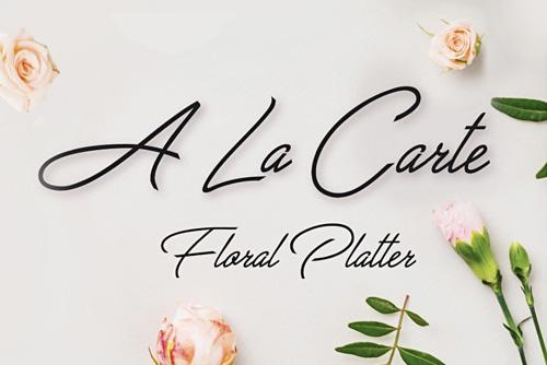 """""""A La Carte Floral Platter"""" FDSS Online Floral Exhibition 2020"""